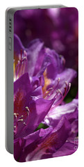 Portable Battery Charger featuring the photograph Purple Rhododendron by Baggieoldboy