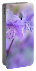 Portable Battery Charger featuring the photograph Purple Rhododendron. Spring Watercolors by Jenny Rainbow