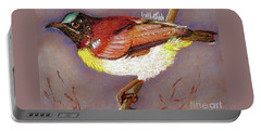 Purple Rumped Sunbird Portable Battery Charger by Jasna Dragun