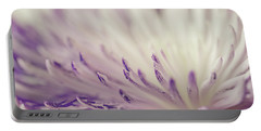 Purple Spider Mum Macro Portable Battery Charger