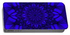 Portable Battery Charger featuring the digital art Purple Spiritual by Lucia Sirna