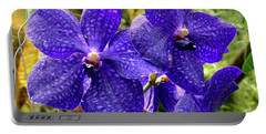 Purple Spotted Orchids Portable Battery Charger