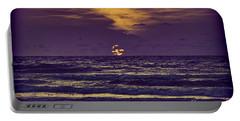 Purple Sunrise Portable Battery Charger