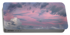 Purple Sunrise Portable Battery Charger by Tim Fitzharris