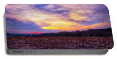 Portable Battery Charger featuring the photograph Purple Sunset At Retzer Nature Center by Jennifer Rondinelli Reilly - Fine Art Photography