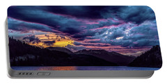 Purple Sunset At Summit Cove Portable Battery Charger