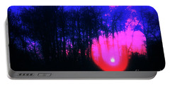 Portable Battery Charger featuring the photograph Purple Sunset by Craig J Satterlee