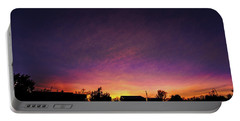 Purple Sunset Portable Battery Charger by Karen Slagle