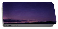 Purple Sunset Over Beach  Portable Battery Charger