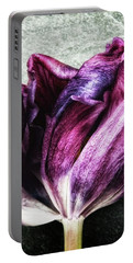 Purple Swirl Portable Battery Charger by Karen Stahlros