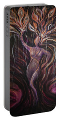 Purple Tree Goddess Portable Battery Charger