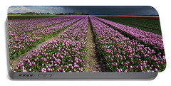Purple Tulips Field Portable Battery Charger