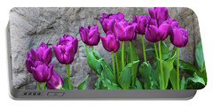 Portable Battery Charger featuring the photograph Purple Tulips by Tom Mc Nemar