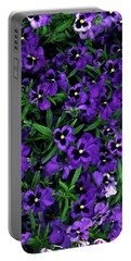 Purple Viola Flowers Portable Battery Charger by Sally Weigand