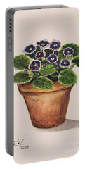 Purple Violets Portable Battery Charger