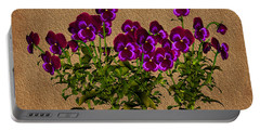 Purple Violets Portable Battery Charger by Smilin Eyes  Treasures