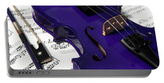 Purple Violin And Music V Portable Battery Charger