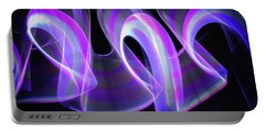 Purple Waves Abstract Portable Battery Charger