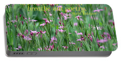 Purple Wildflower Of Poets Portable Battery Charger
