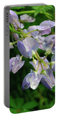Portable Battery Charger featuring the photograph Purple Wildflower by Tikvah's Hope