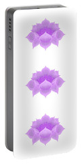 Purple Lotus Pattern Portable Battery Charger
