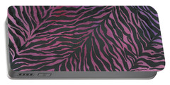 Purple Zebra  Portable Battery Charger by Nan Wright
