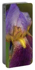 Purplish Iris Portable Battery Charger