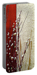 Pussy Willow Corner Portable Battery Charger by Joan  Minchak