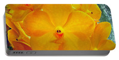 Put On A Happy Face Yellow Orchids Portable Battery Charger