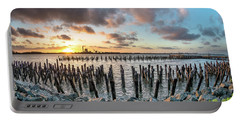 Portable Battery Charger featuring the photograph Pylons Mill Sunset by Greg Nyquist