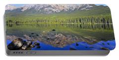 Pyramid Lake Reflection Portable Battery Charger by Teresa Zieba