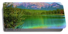 Pyramid Mountain Over Teal Waters Portable Battery Charger