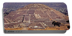 Pyramid Of The Sun - Teotihuacan Portable Battery Charger