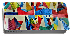Portable Battery Charger featuring the digital art Pyramid Play by Mindy Newman