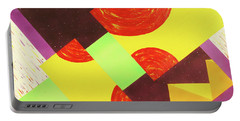 Portable Battery Charger featuring the painting Pyramids And Pepperoni by Thomas Blood