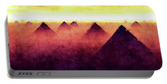 Pyramids At Sunrise Portable Battery Charger