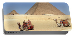 Portable Battery Charger featuring the photograph Pyramids Of Giza by Silvia Bruno