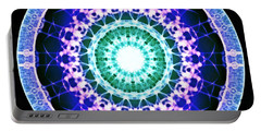 Portable Battery Charger featuring the digital art Quadlife by Derek Gedney