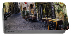 Quaint Cobblestones Streets In Rome, Italy Portable Battery Charger