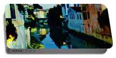 Portable Battery Charger featuring the photograph Quaint On The Canal by Roberta Byram