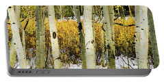 Quakies And Willows In Autumn Portable Battery Charger