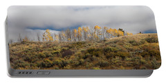 Quaking Aspen Tree Landscape, Grand Teton National Park, Wyoming Portable Battery Charger