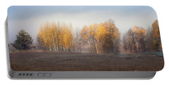 Quaking Aspen Trees At Dawn, Grand Teton National Park, Wyoming Portable Battery Charger