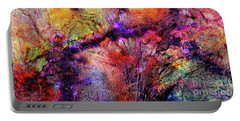 Portable Battery Charger featuring the digital art Qualias Bridge by Russell Kightley