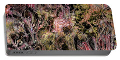 Portable Battery Charger featuring the digital art Qualia's Garden Autumn by Russell Kightley