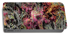 Portable Battery Charger featuring the digital art Qualia's Garden Summer by Russell Kightley