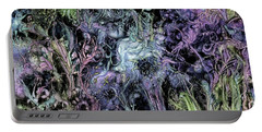 Portable Battery Charger featuring the digital art Qualia's Graden Winter by Russell Kightley