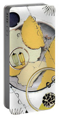 Portable Battery Charger featuring the painting Quantom Physics by Michal Mitak Mahgerefteh