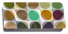 Portable Battery Charger featuring the digital art Quarter Circles Layer Project One by Michelle Calkins
