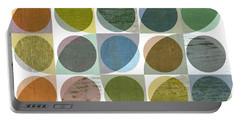 Portable Battery Charger featuring the digital art Quarter Circles Layer Project Three by Michelle Calkins